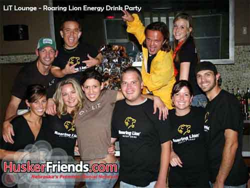 Mighty Mike at a Roaring Lion energy drink party